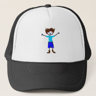 Young Boy - s Drawing Trucker Hat