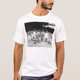 Young Boys and Girls on the Baseball Field T-Shirt