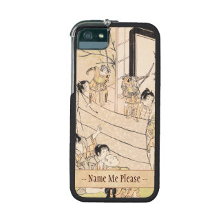 Young Boys Performing Puppet Show Kitao Shigemasa iPhone 5 Case