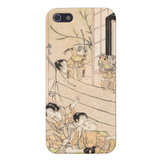 Young Boys Performing Puppet Show Kitao Shigemasa iPhone 5 Cases