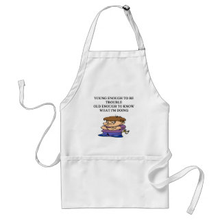 young brat son and daughter designs standard apron