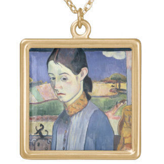 Young Breton Woman, 1889 (oil on canvas) Necklaces