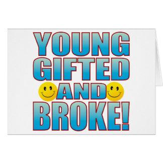 Young Broke Life B Card