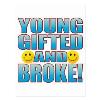 Young Broke Life B Postcard