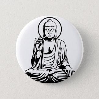 Young Buddha No.1 (black) 6 Cm Round Badge