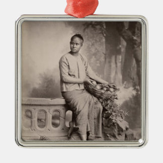 Young Burmese girl, c.1880 Christmas Ornament