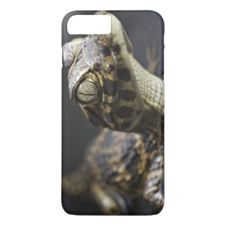 Young cayman in water with reflection iPhone 8 plus/7 plus case