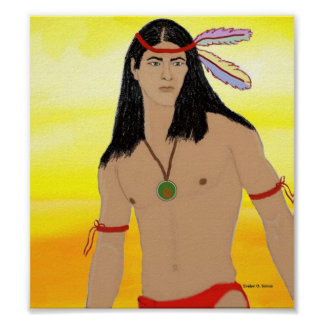 Young Cherokee male Poster
