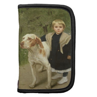 Young Child and a Big Dog (oil on canvas) Planners
