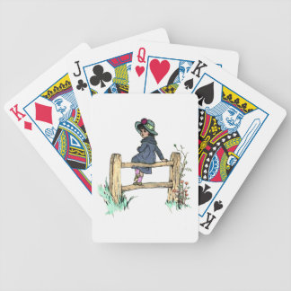 Young Child In A Raincoat Bicycle Poker Deck