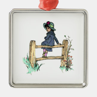 Young Child In A Raincoat Christmas Ornaments