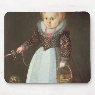 Young Child with a Dog Mouse Pads