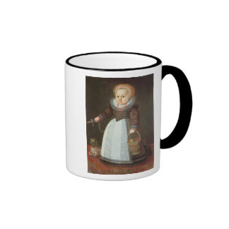 Young Child with a Dog Ringer Mug