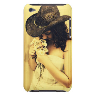 Young Country Girl with Daisies Case-Mate iPod Touch Case