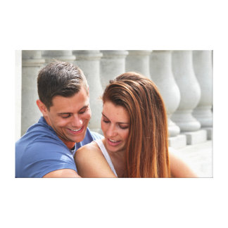 Young Couple Bridge Gallery Wrapped Canvas