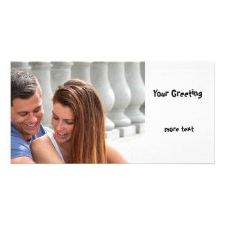 Young Couple Bridge Custom Photo Card