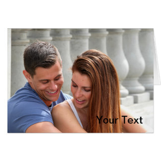 Young Couple Bridge Greeting Cards