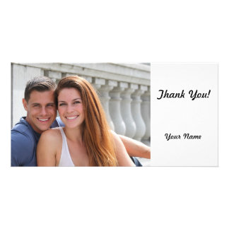 Young Couple Bridge Personalized Photo Card