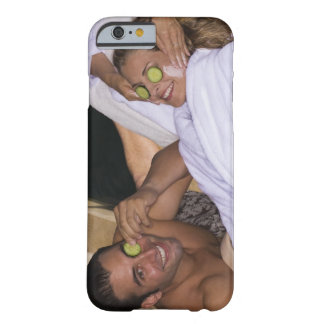 Young couple enjoying a spa treatment. barely there iPhone 6 case