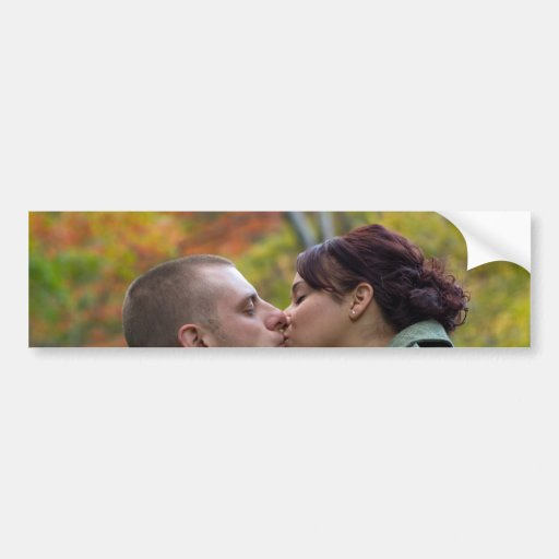 Young Couple Kissing Bumper Stickers