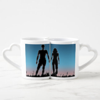 Young Couple Lovers' Mug Set