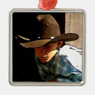 Young Cowboy Christmas Ornament
