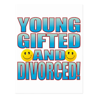Young Divorced Life B Postcard