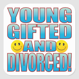 Young Divorced Life B Square Sticker