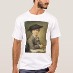 Young draughtsman in black hat, 18th century T-Shirt