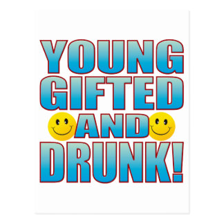 Young Drunk Life B Postcard