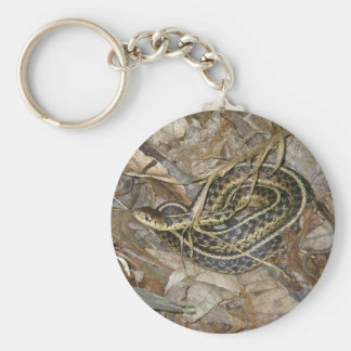 Young Eastern Garter Snake Coordinating Items Basic Round Button Key Ring