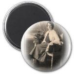 Young Edwardian Lady Early 20th Century Fridge Magnet