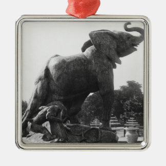 Young Elephant caught in a trap Christmas Ornament