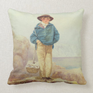 Young England - A Fisher Boy Throw Pillow