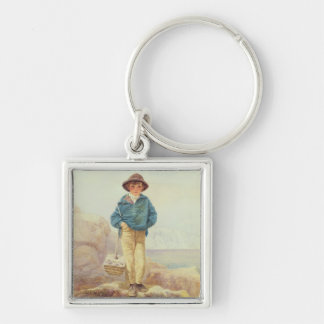 Young England - A Fisher Boy Silver-Colored Square Key Ring