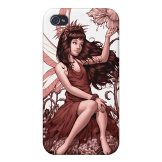 Young Fairy with Flowers by Al Rio iPhone 4/4S Covers