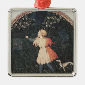 Young falconer, Florentine School Christmas Ornament