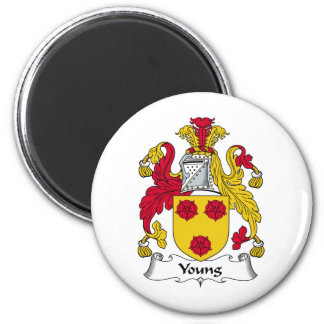 Young Family Crest 6 Cm Round Magnet