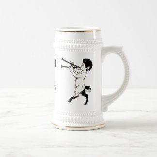 Young Faun With Double Flute Beer Stein