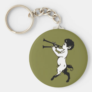 Young Faun With Double Flute Key Ring
