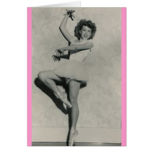 young female ballerina dancer greeting card