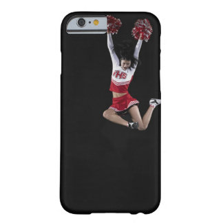 Young female cheerleader jumping in midair, arms 2 barely there iPhone 6 case
