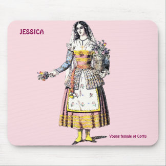 Young Female of CORFU ~ Personalised for JESSICA~ Mouse Mat