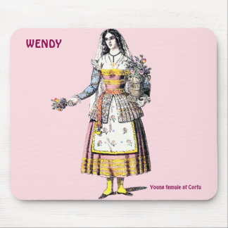 Young Female of CORFU ~Personalised for WENDY ~ Mouse Mat