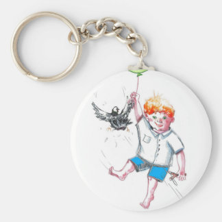 young fliegt.jpg basic round button key ring