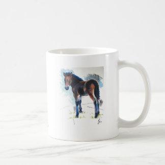 Young Foal Dartmoor Horse Painting Basic White Mug