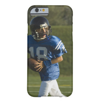 Young football player running with ball barely there iPhone 6 case