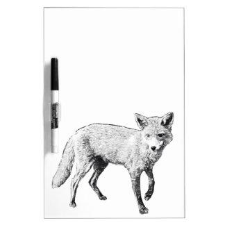 Young Fox Sketch Dry Erase Board