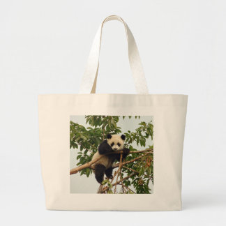 Young giant panda large tote bag