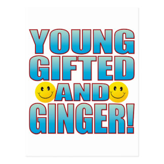 Young Ginger Life B Postcard